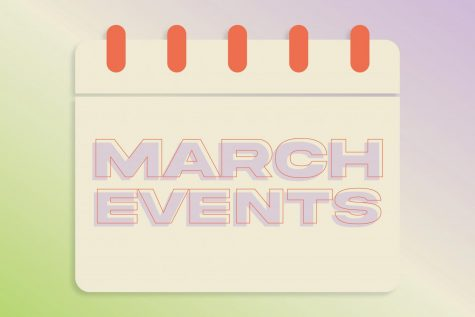 calendar notepad with march events written on it