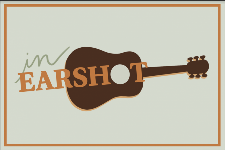 graphic of guitar with in earshot written