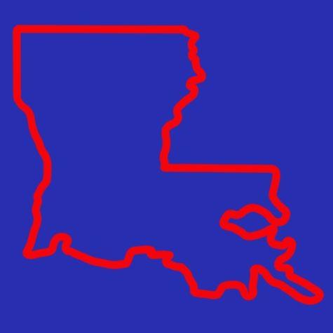 outline of Louisiana