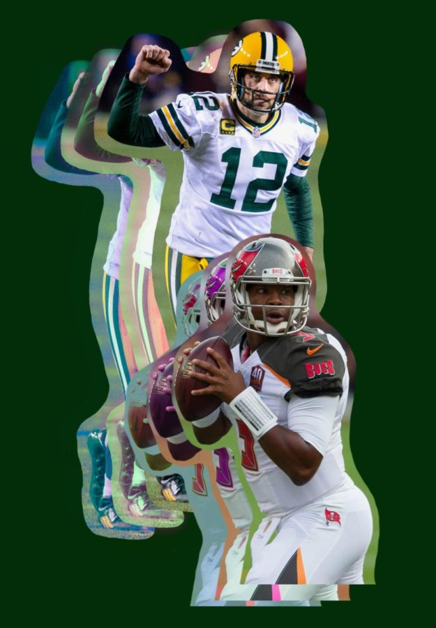 The two featured QBs, Aaron Rodgers and James Winston