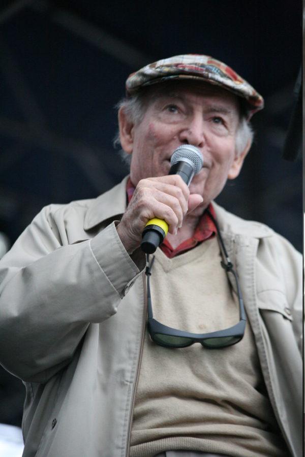 Jazz impresario George Wein at the Newport Folk Fest in 2012.