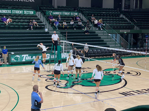 Green Wave volleyball