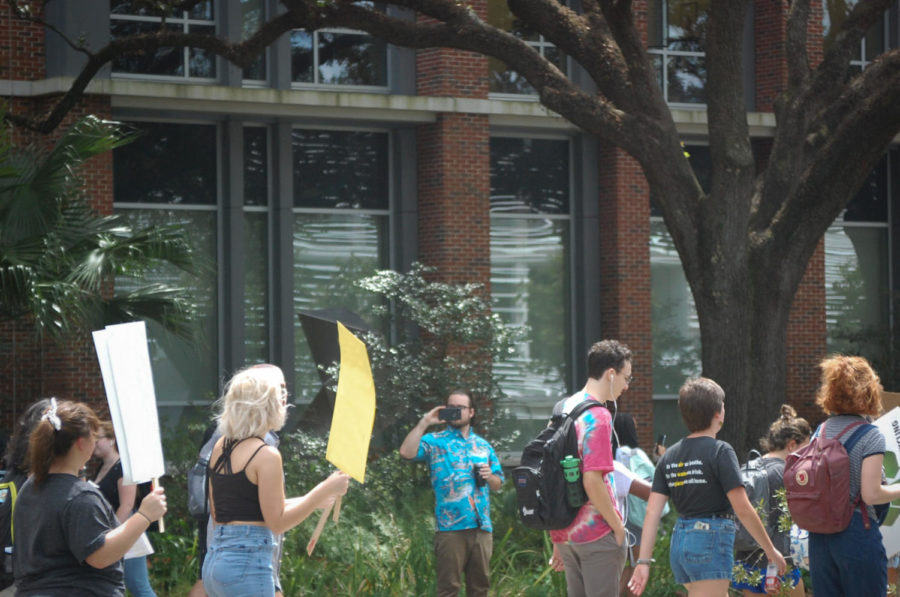 Students exercise the freedom to gather for important issues.